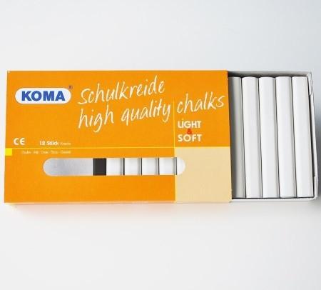 KOMA Schulkreide weiß, Schachtel à 12 Stück
