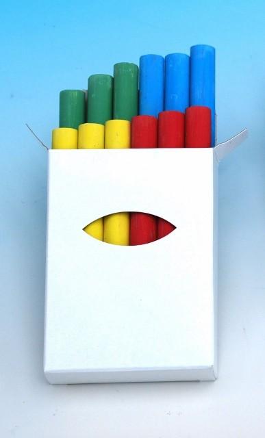 Giotto Robercolor Kreide farbig sortiert, Schachtel à 12 Stück 4-farbig sortiert