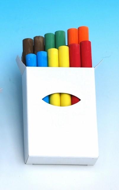 Giotto Robercolor Kreide farbig sortiert, Schachtel à 12 Stück 6-farbig sortiert