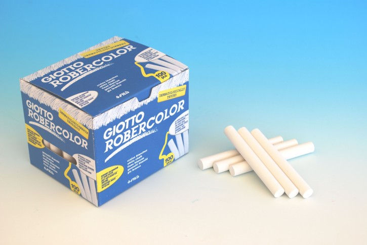 Giotto Robercolor Kreide weiß, Schachtel à 100 Stück