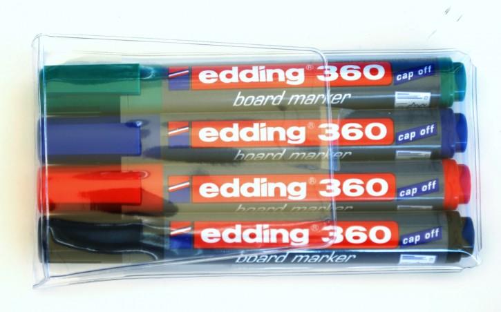 BOARDMARKER edding 360 CAP-OFF 4er Etui