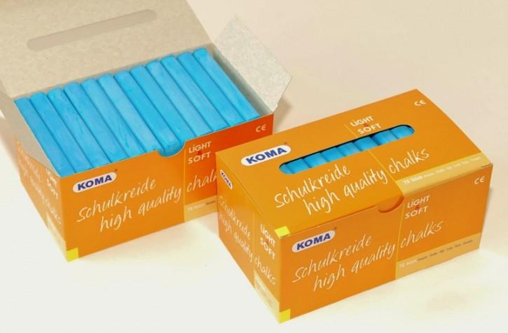 KOMA Schulkreide blau, Schachtel à 72 Stück