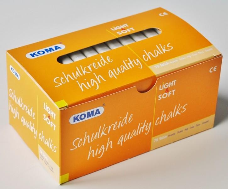 KOMA Schulkreide weiß, Schachtel à 72 Stück