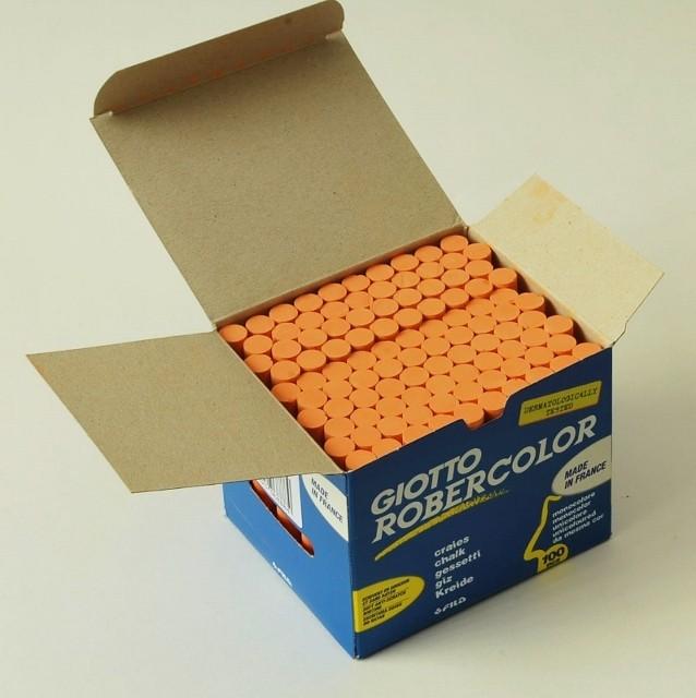 Giott Robercolor Kreide, Schachtel à 100 Stück, orange