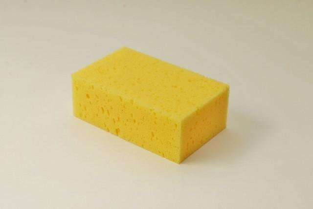 Tafelschwamm mittelgroß, 16 X 10 X 6 cm, gelb