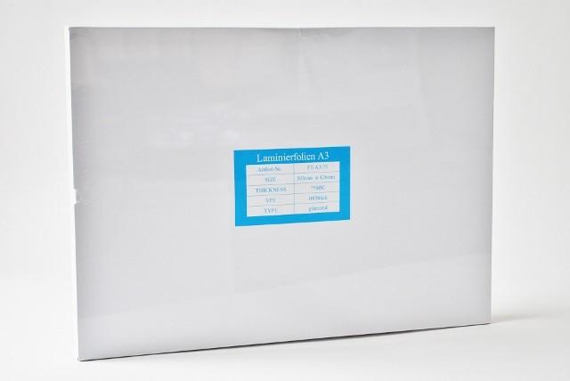 Laminierfolientaschen DIN A3, 2x75 mic., Schachtel à 100 Stück