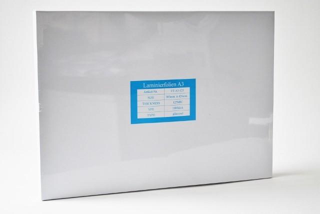 Laminierfolientaschen DIN A3, 2x125 mic., Schachtel à 100 Stück