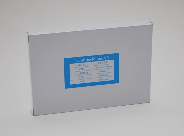 Laminierfolien DIN A6, 2 X 80 mic., Schachtel à 100 Stück