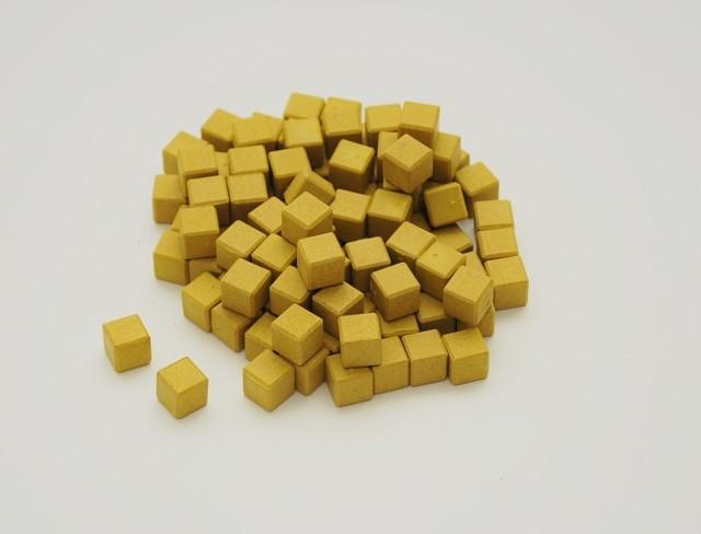 Dienes Einerwürfel gelb, Re-Wood, 100 Stück