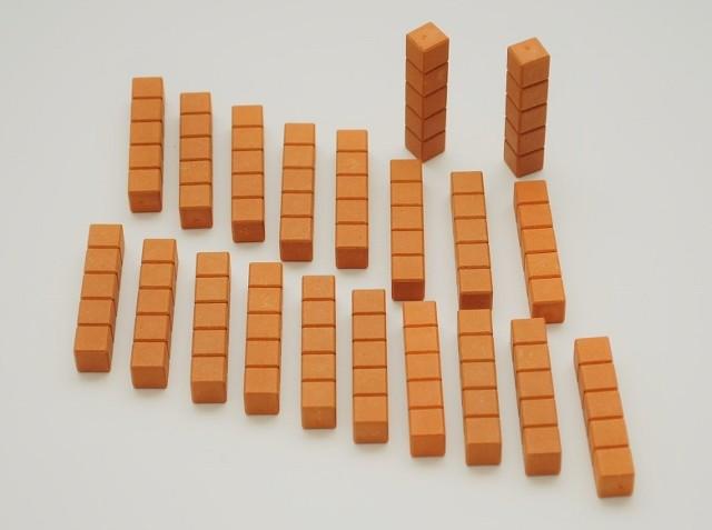 Dienes Fünferstäbe orange, Re-Wood, 20 Stück