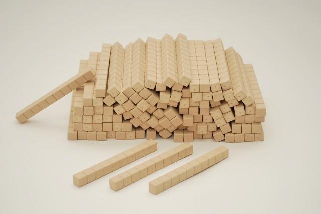 Dienes Zehnerstäbe, aus Re-Wood naturfarben, 100 St.