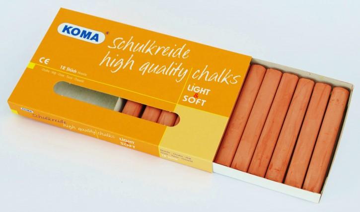 KOMA Schulkreide braun, Schachtel à 12 Stück
