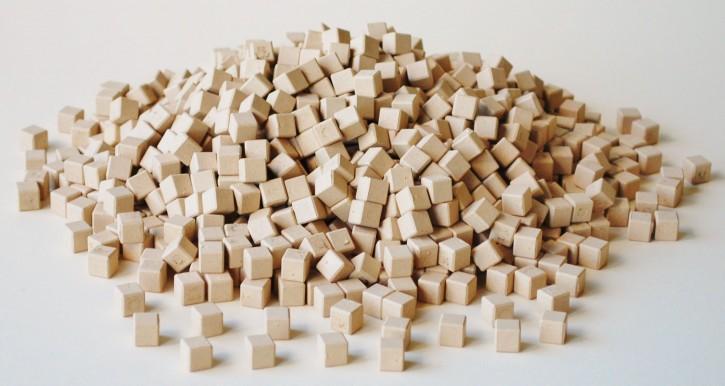Dienes Einerwürfel aus Re-Wood naturfarben, 1000 St.
