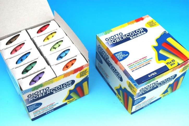 ROBERCOLOR enrobee 10-farbig, Schachtel à 100 Stück (10x10)