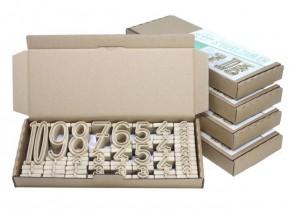 Stapelzahlen 170-teilig 500er Zahlenraum, aus Re-Wood